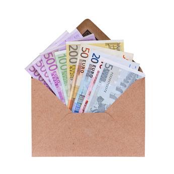 Umschlag mit Geld anonymes Zahlungsmittel